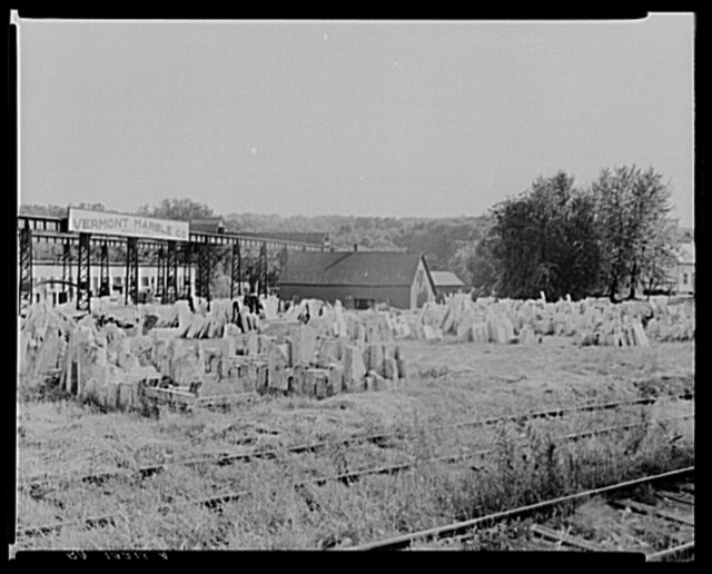 A marble storeyard. Ripley, Vermont
