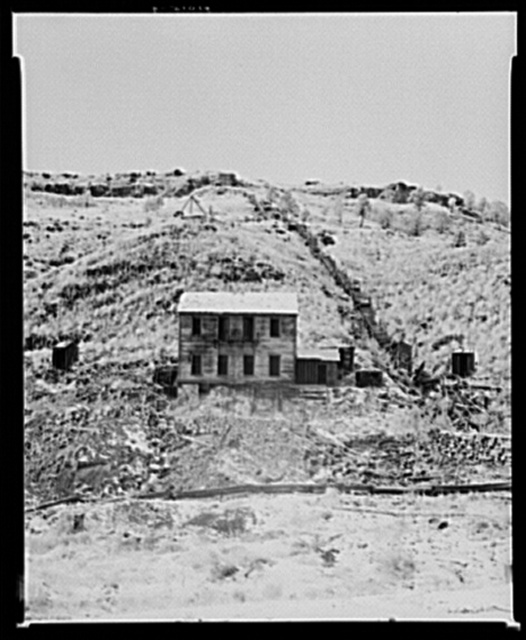 Abandoned house in Cambria, Wyoming. Ghost mining town