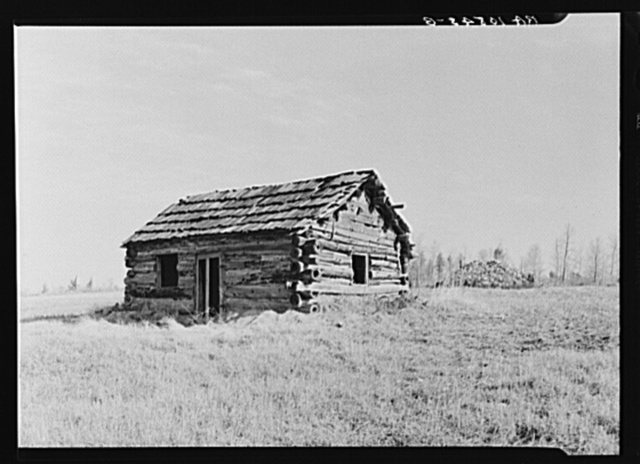 Abandoned house on the road between Iron River, Michigan, and Tipler, Wisconsin