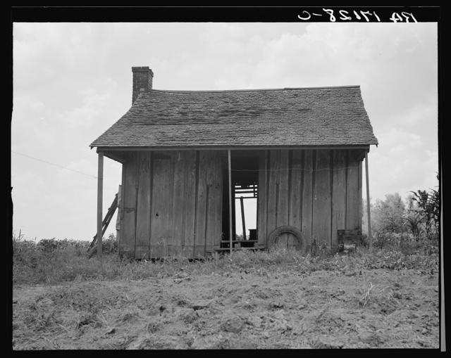 Abandoned tenant house on a mechanized plantation of the Mississippi Delta
