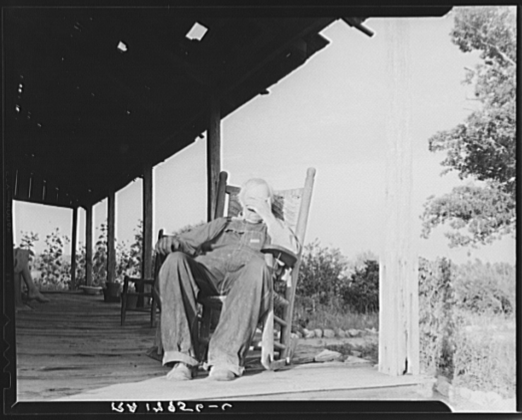 Aged cotton farmer, Greene County, Georgia. He inherited his lands which are now heavily mortgaged