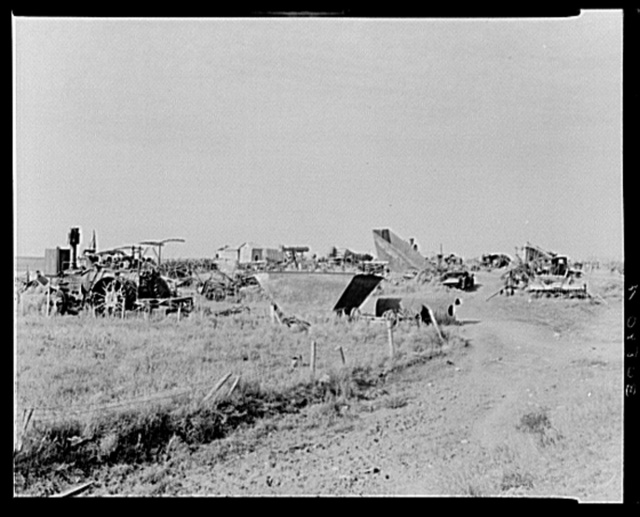 Agricultural junkyard. Wildrose, Williams County, North Dakota