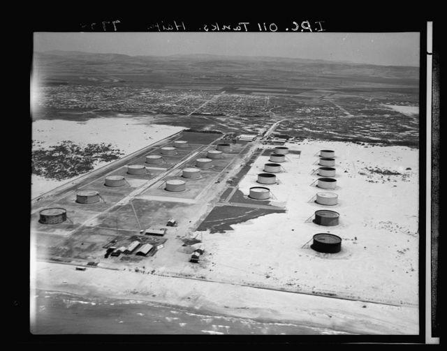 Air films (1937). I.P.C [i.e., Iraq Petroleum Company]. Haifa oil tanks