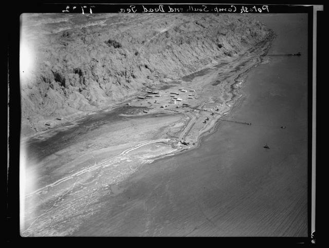 Air films (1937). Palestine Potash Camp at Jebel Usdum