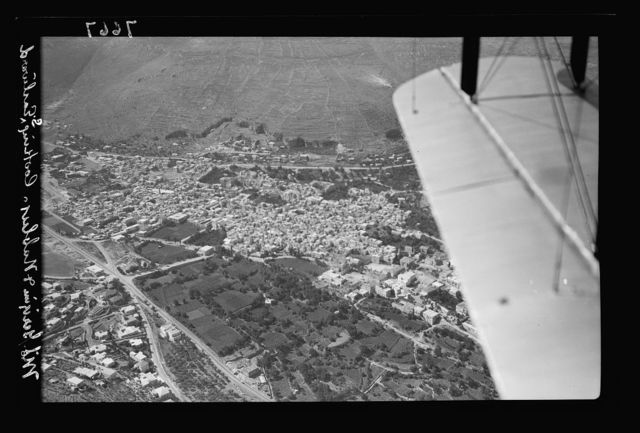 Air views. Nablus & Gerizim, looking S.E.