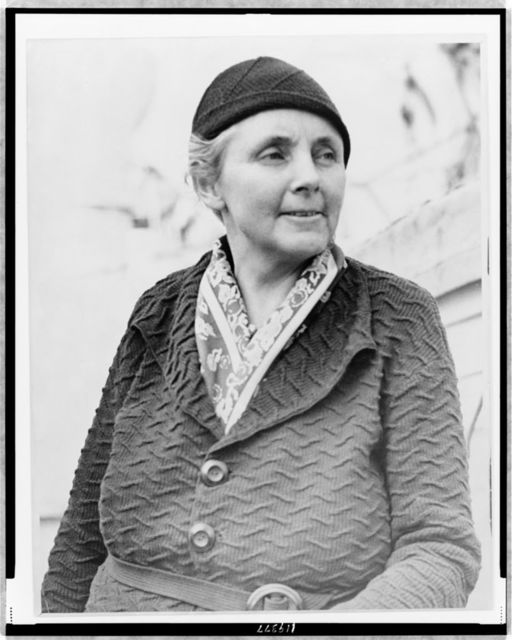 Anna Louise Strong--longest living American in Moscow / World Telegram photo.
