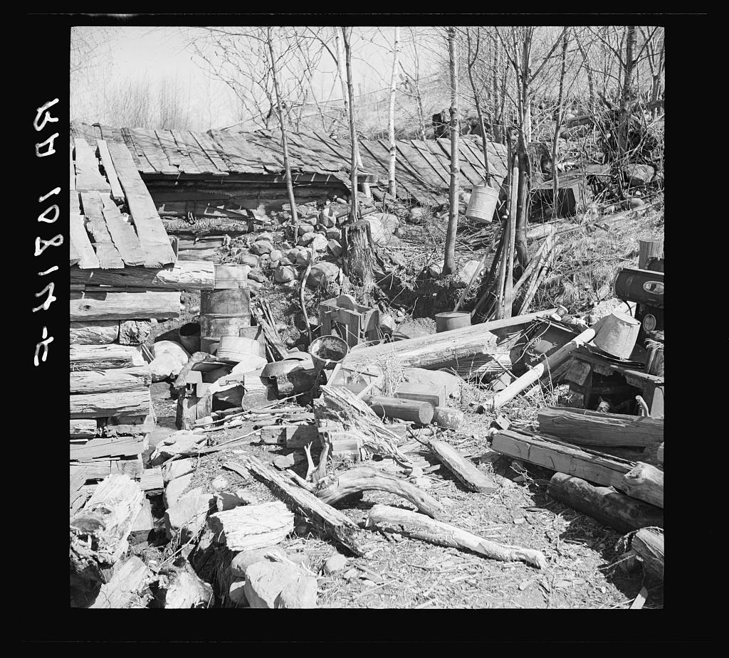 Backyard of Buckboard Charlie's shack near Iron River, Michigan