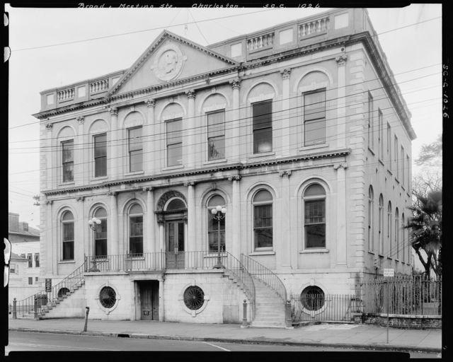 Bank of United States, Broad & Meeting Street, n.e. Corner, Charleston, Charleston County, South Carolina