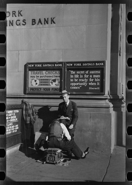 Bootblack, Fourteenth Street and Eighth Avenue, New York, New York