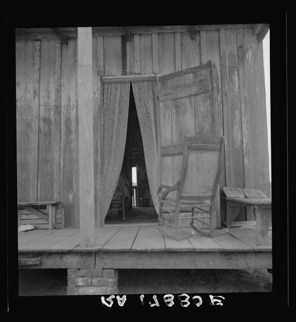 Cabin on sugar plantation. Bayou La Fourche, Louisiana
