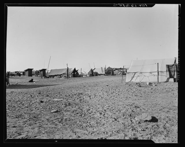 Camp of migratory agricultural workers. Imperial County, California