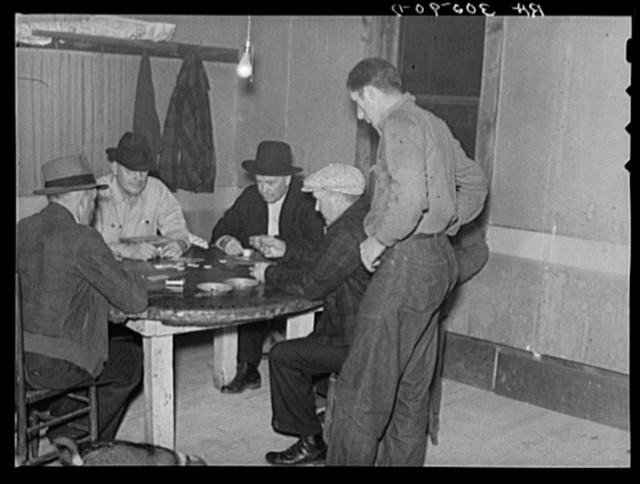 Card game in a saloon. Craigville, Minnesota