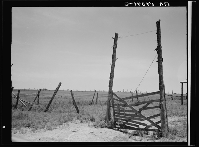 Carter County, Oklahoma. Abandoned land, exhausted soil