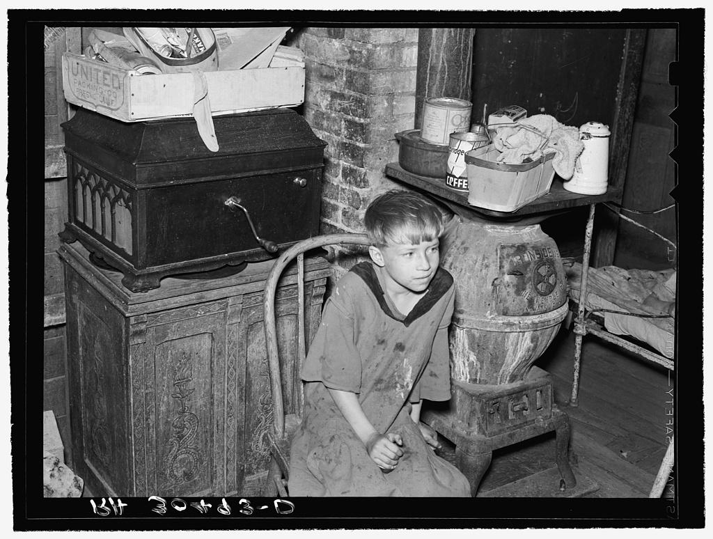 Child of Floyd Peaches, farmer near Williston, North Dakota