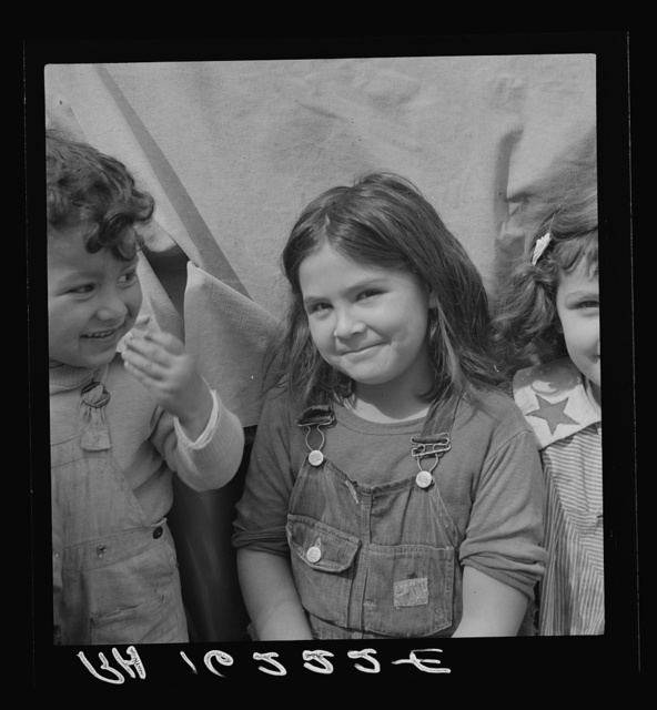 Children of migratory carrot pullers, Mexicans. Imperial Valley, California