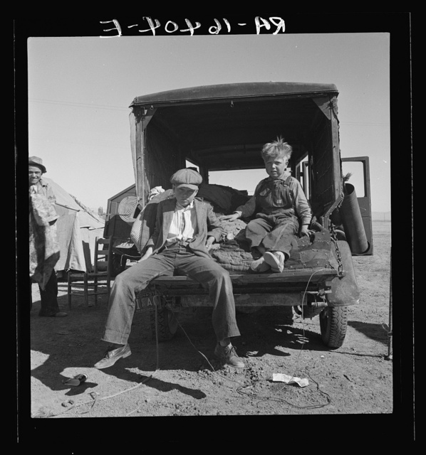 Children of Oklahoma migrants in agricultrual workers' camp near Calipatria, California