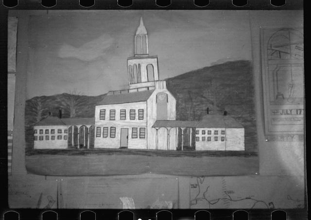 Child's painting, Arthurdale, West Virginia