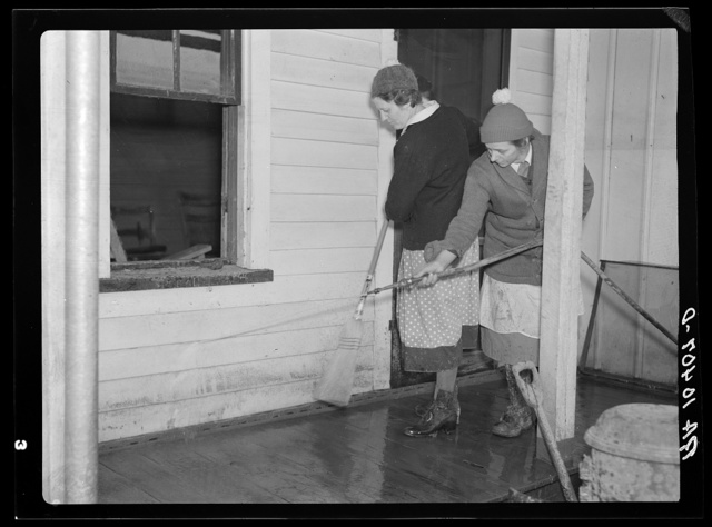 Cleaning up after the flood. Posey County, Indiana