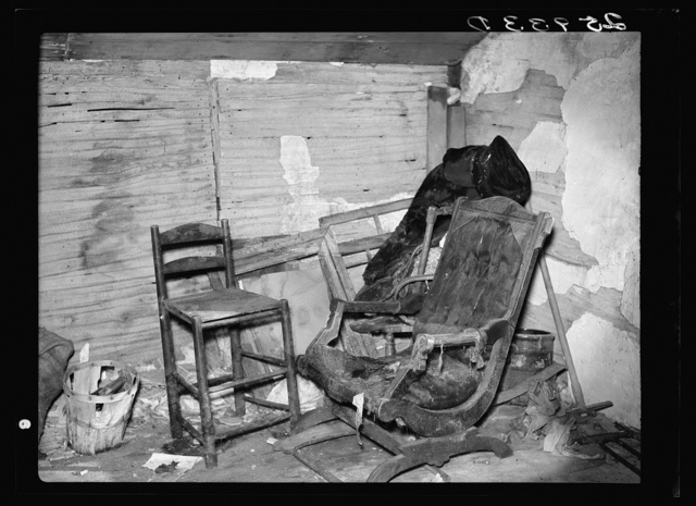 Corner of room in abandoned house. Albany County, New York