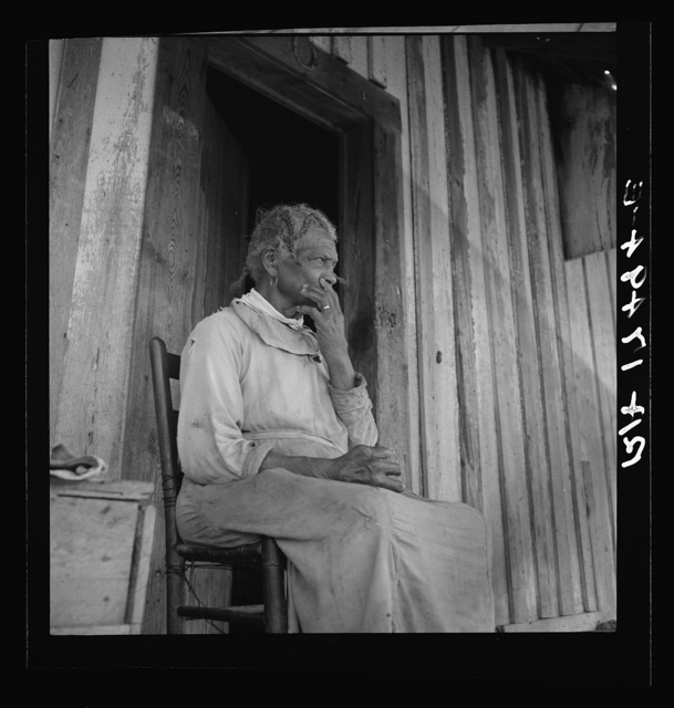 "Cotton sharecropper. She was born ""two years before the surrender."" Mississippi"