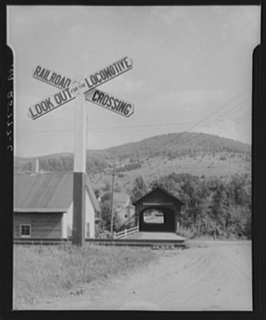 Covered bridge. Northfield Falls, Vermont