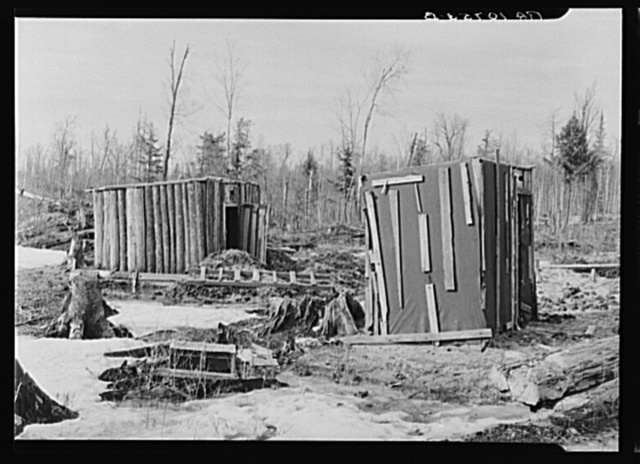 Cow shed and poultry house on the land occupied by the Ingrahams and the Smallwoods near Nelma, Wisconsin