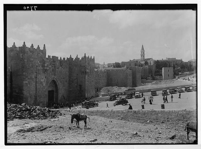 Damascus Gate after clearance of slope. Oct. 1937
