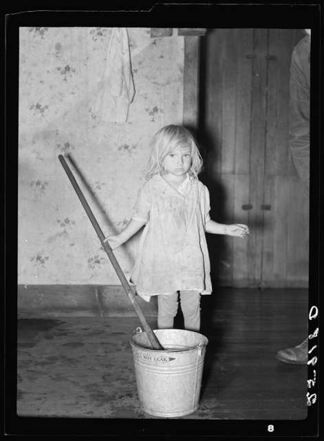Daughter of Ellery Shufelt. Land use project. Albany County, New York