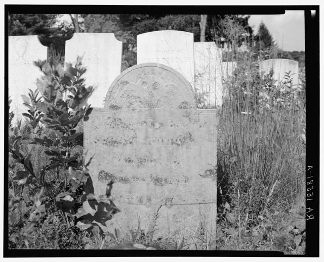Death angel in Weston, Connecticut, graveyard
