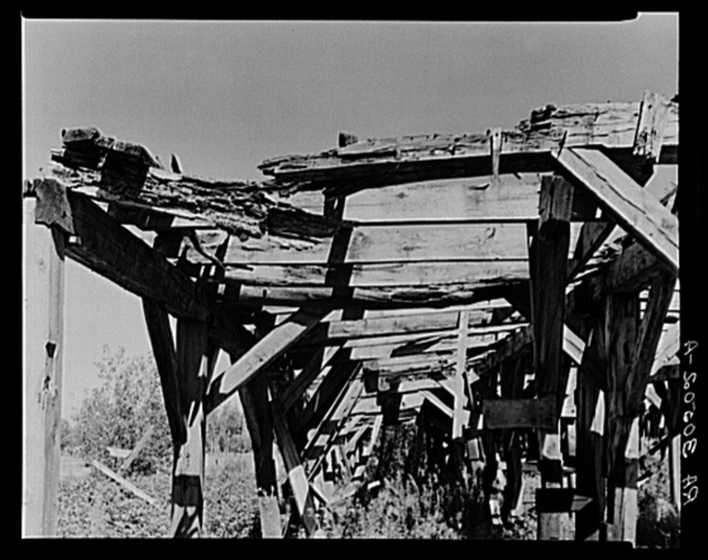 Decay of sawmill at Ericsburg, Minnesota