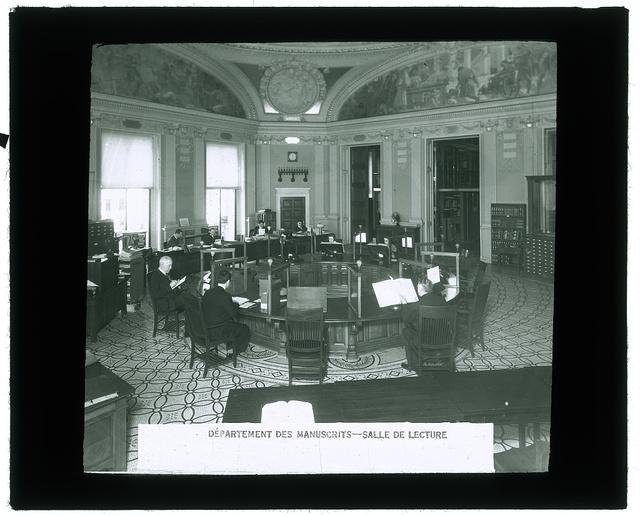 Département des manuscrits, salle de lecture
