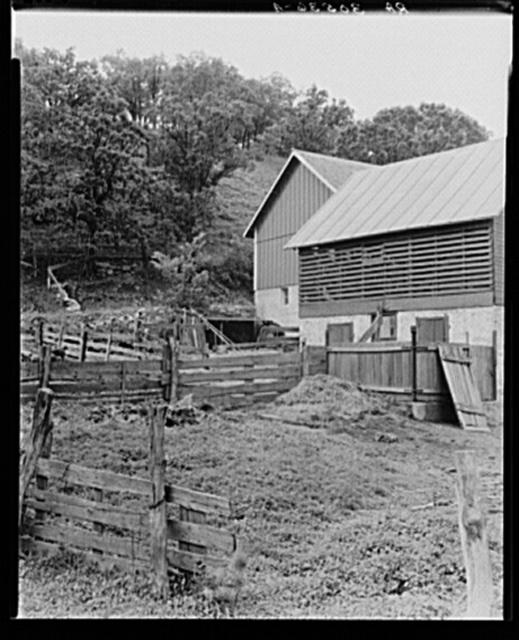 Detail of barnyard near Madison, Wisconsin