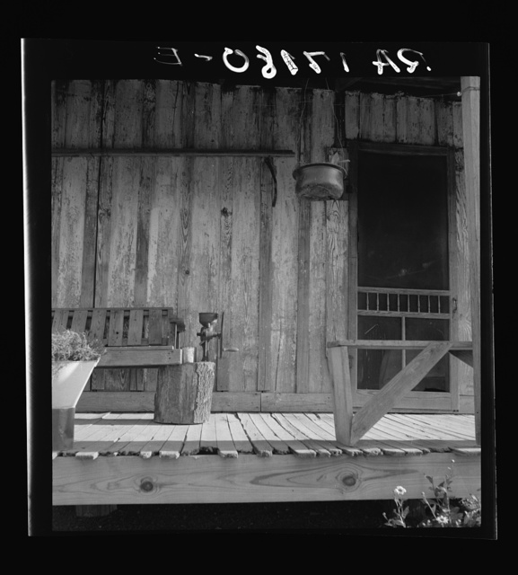 Detail of Negro sharecropper's porch. Washington County, Mississippi