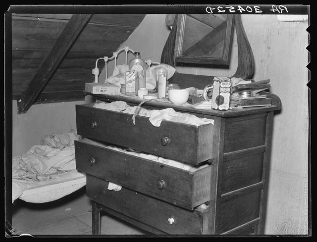 Dresser in farmhouse. Williams County, North Dakota