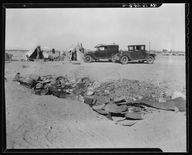 Drought refugees in California near Holtville