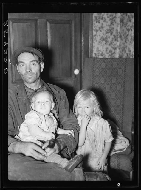 Ellery Shufelt with his children. Albany County, New York