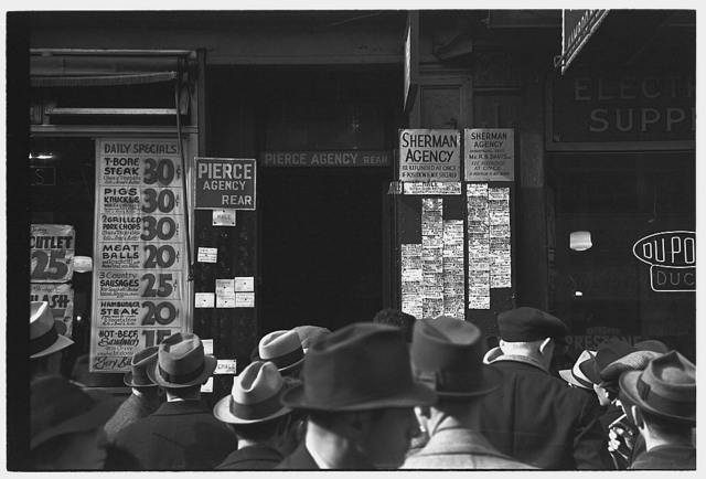 Employment agency on Sixth Avenue, New York, New York