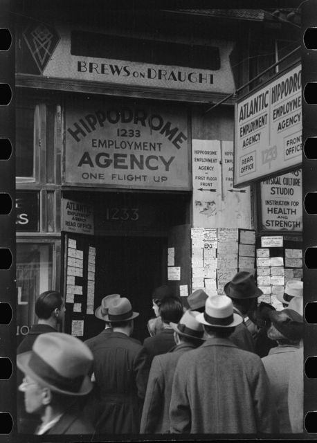Employment agency, Sixth Avenue, New York, New York