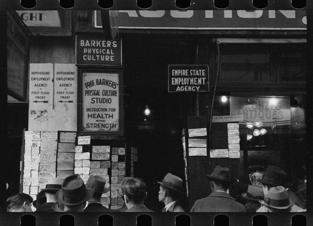 Employment agency, Sixth Avenue, New York, New York