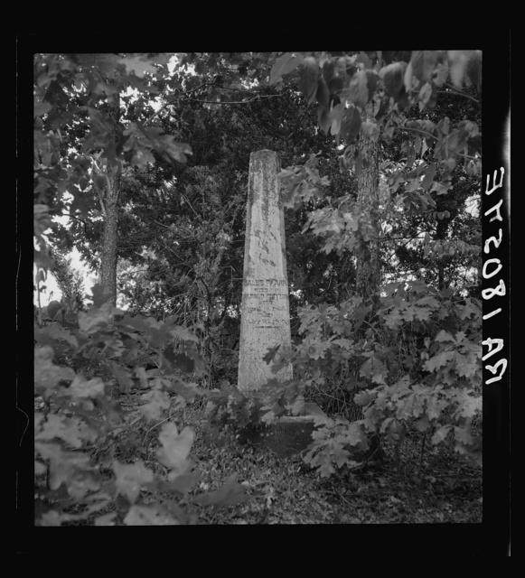 Family burial ground on the abandoned Pharr Plantation near Social Circle, Georgia
