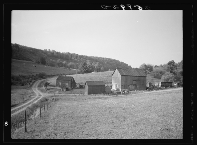 Farm of John Holling. Member of the Otsego Forest Products Coop. Otsego County, New York