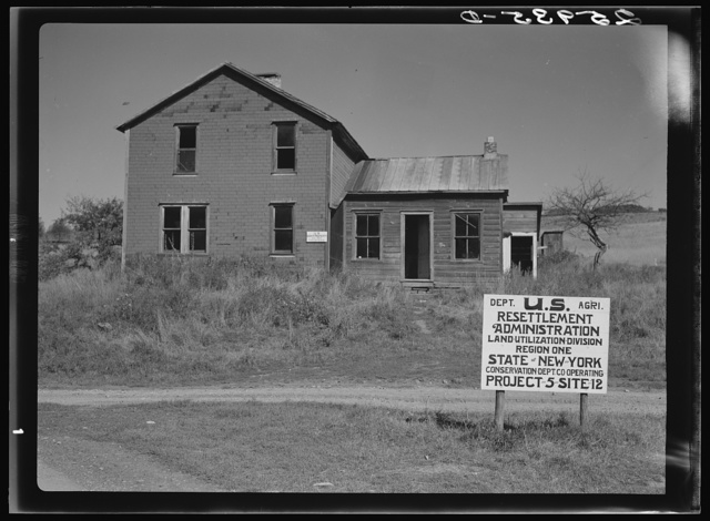 Farmhouse on land use project. Albany County, New York