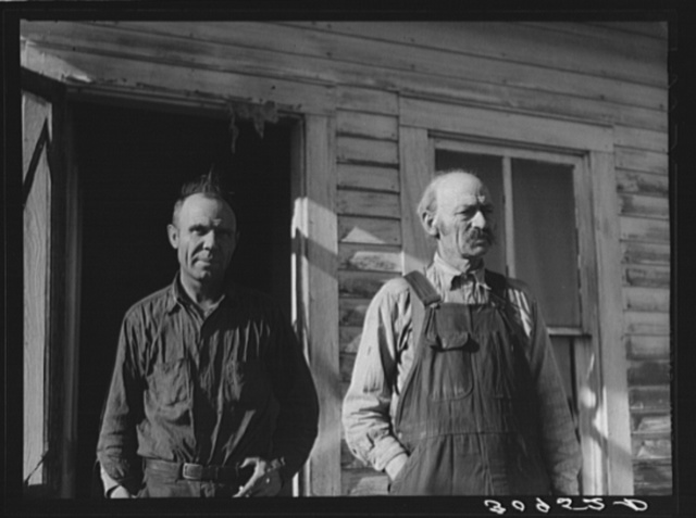 Father and son. Bertelson family, Antelope, Montana
