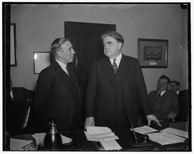F.J. Gaman [?] Pres. United Textile Workers Union, & John L. Lewis, Pres. U.M.W. Chairman of C.I.O.