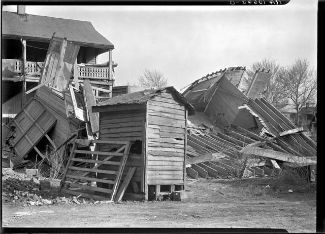 Flood damage. Shawneetown, Illinois