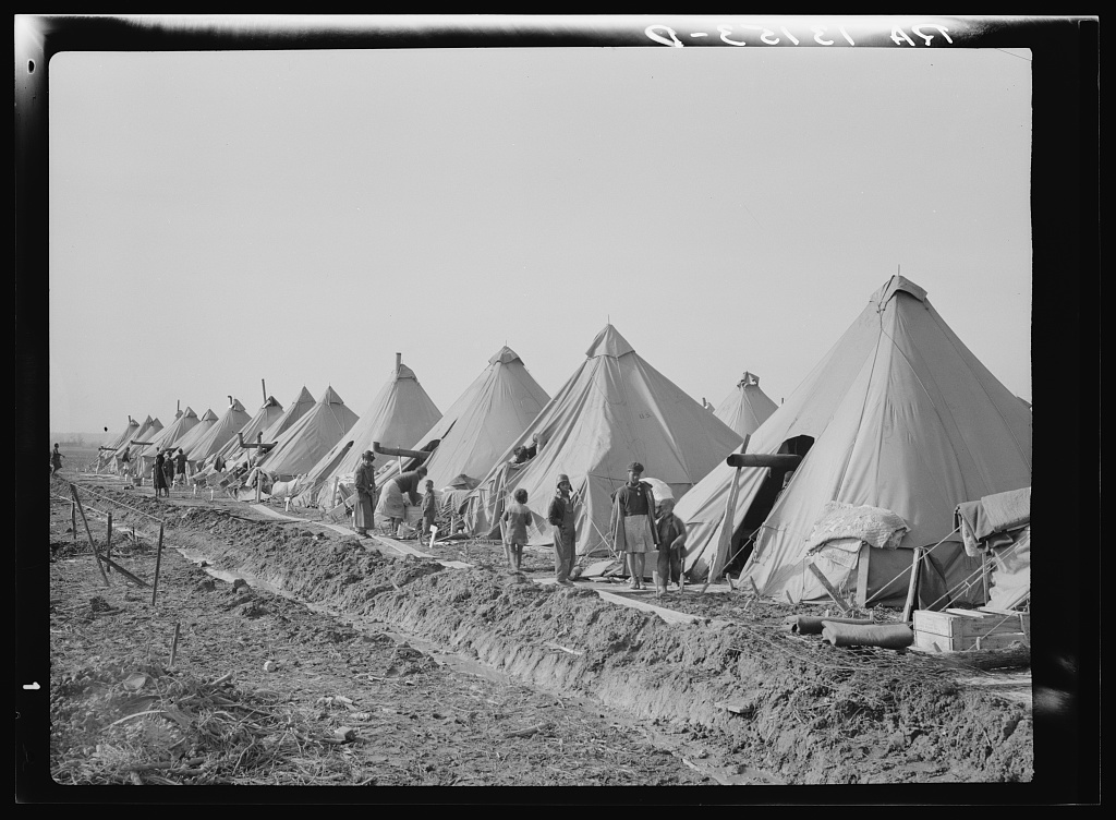 Flood refugee camp for Negroes from the bottom lands. Forrest City, Arkansas