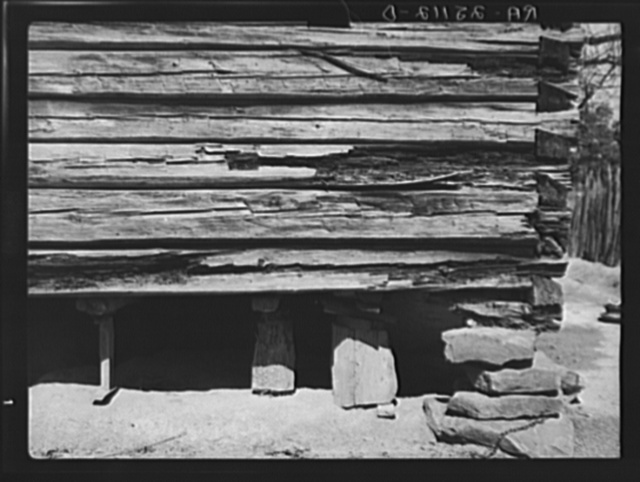 Foundations of Joe Handley's cabin. Walker County, Alabama