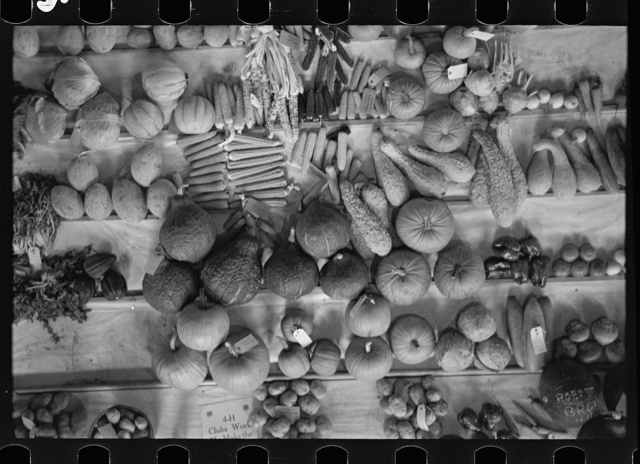 Fruit and vegetable display, State Fair, Rutland, Vermont