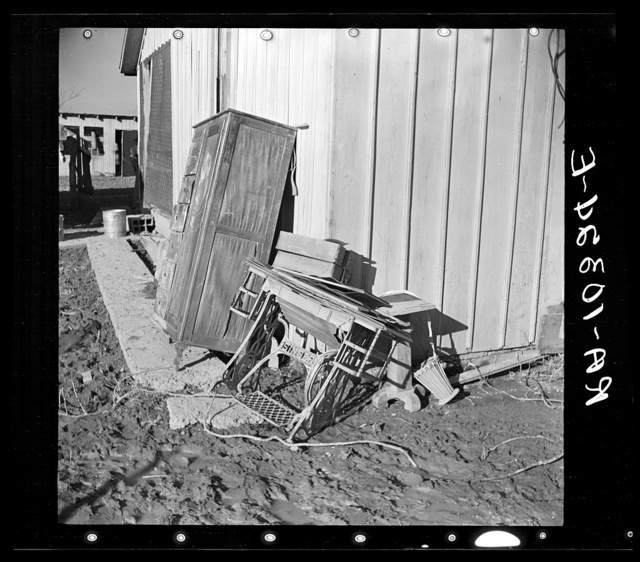 Furniture ruined by flood. Posey County, Indiana