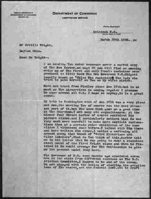 General Correspondence:  Tate, William J., 1937-1947